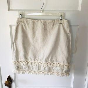 Loft fringe skirt